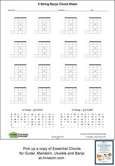 5 string banjo blank chord boxes