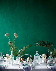 #Emerald #green #painted walls #interior #design