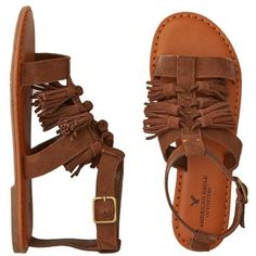 AEO Tassel T-Strap Sandal (£20) ❤ liked on Polyvore featuring shoes, sandals, t strap sandals, tassel shoes, american eagle outfitters, tassel sandals and t bar shoes