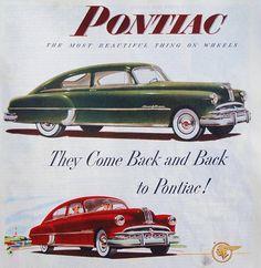September 1949 ad for the  Pontiac Fastback