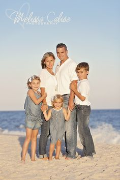 Melissa Calise Photography (Family photo session posing ideas siblings mom dad denim jeans white beach)