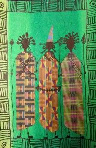 Grade 3 Masai - love this! African Art For Kids, African Art Projects, Third Grade Art, Grade 3, Rose Croix, African Quilts, Afrique Art, Ecole Art, School Art Projects