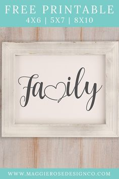Family Printable Family Printable is easy to print at home using standard cardstock. This Family print comes in multipe sizes including and Free Printable Quotes, Templates Printable Free, Printable Wall Art, Free Printables, Free Downloads, Family Wall Art, Family Print, Home Wall Art, Family Family