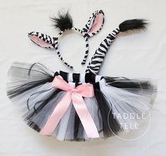 Pre Sale ZEBRA Halloween Costume Tutu Includes by taddletellshop
