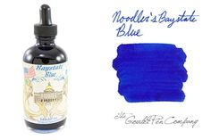 Noodler's Baystate Blue -  Known for its excellent color value, plus the 4.5 oz bottle comes with free pens. I'm seriously considering this ink and using the Fountain Pen that comes with the bottle. Comments are welcome if you have ever used this ink.