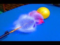 Играем с водой. Стреляем в шарики наполненные водой. Замедленная съемка