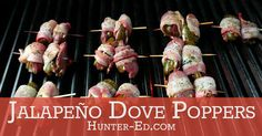 Easy, quick, and with just enough bite, these tasty morsels are a delicious end to your dove hunt. Good Food, Yummy Food, Tasty, Dove Season, Dove Recipes, Dove Hunting, Wild Game Recipes, Grilling Recipes, Appetizers