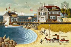 Charles Wysocki, Artifacts Gallery - Clammers on Hodges Horn