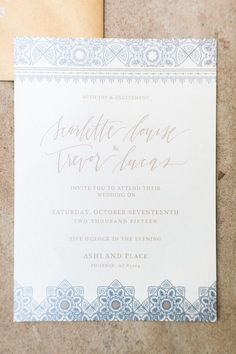 Romantic invitation by Foil & Ink - image by Pinkerton Photography