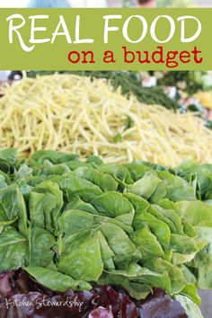 Large Family Logistics (Three Tips for Real Food on a Budget) :: via Kitchen Stewardship