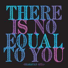 Wisdom from the Bhagavad Gita.