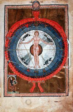 medieval: Hildegard of BingenLiber Divinorum Operum: Second Vision, German Romanesque1173Lucca, Bibl Governativa Ms. 1942, folio 9r