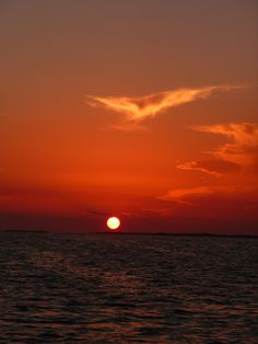 Sunset from a catamaran. Ambergris Caye, Belize