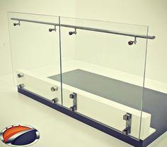 Stylish glass holders for balcony by www.akossystem.com #aluminium #aluminiumrailings #railing #railingsystem