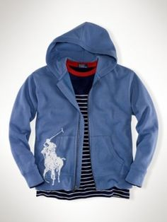 Big Pony Full-Zip Hoodie carson blue