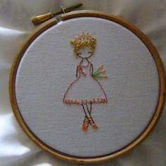 pretty princess free embroidery pattern