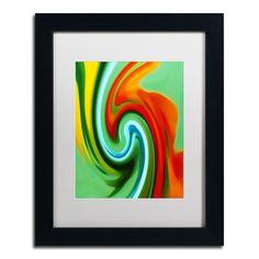 'Abstract Flower Unfurling Vertical 2' by Amy Vangsgard Giclée Framed Graphic Art