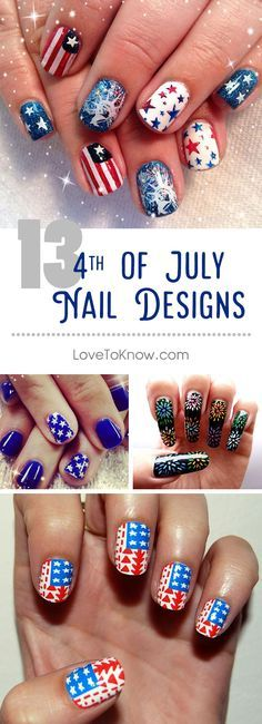 Nail art has become increasingly popular with young girls, teens, and women of all ages. Whether it is freehand painting, air brushed designs, or nail wraps, everyone loves to show their personality on their nails. Independence Day nail designs are a great way to show your pride in 'Old Glory' and the USA. #nailart