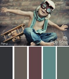 A child's imagination is a beautiful thing. So too is the composition of this image. Blue is already one of the most powerful colors you can use in design and here the photographer has captured it perfectly in contrast with the stark naked wood of the plane and the bare torso of the boy.