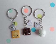 Best friend keychain S'more best friend by ClaytiveDesigns on Etsy  Absolutely LOVE this shop and her designs!