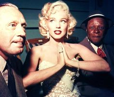 Jack Benny, Marilyn Monroe and Eddie 'Rochester' Anderson