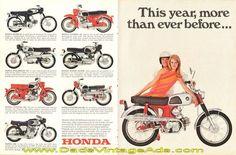 1967 Honda Sport 160 Vintage Motorcycle Ad