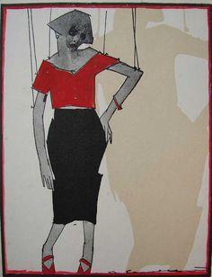 Di Cavalcanti Drawings, Inspiration, Masters, Puppets, Museum, Etchings, Sao Paulo, Colors, Dibujo