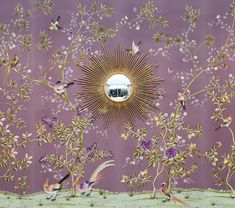 El objeto del la semana: Espejos sol /// Das Objekt der Woche: Sonnenspiegel /// The object of the week: Vintage Sunburst Mirrors Wallpaper Gallery, More Wallpaper, Fabric Wallpaper, Wall Wallpaper, Purple Wallpaper, Gracie Wallpaper, Painted Wallpaper, Beautiful Wallpaper, Wallpaper Panels