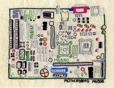 Emma Ferguson - Motherboard Geek Art: Needlework Brings Together Programmers, Crafters | WIRED
