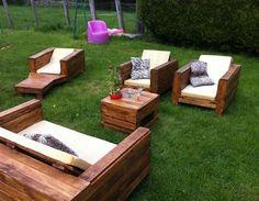 Terrasse salon de jardin en palette palette terrasse - Salon de jardin en palettes ...