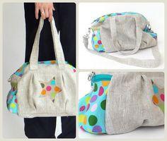 Keko-Kreativ: Die Kugeltasche, pattern by farbenmix.de, #taschenspieler2 #taschen #nähen #farbenmix #sewing #diy #bags