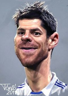 Xavi Alonso, Funny Caricatures, Celebrity Caricatures, Real Madrid, Cinema Tv, Wayne Rooney, Famous Cartoons, Twin Brothers, Cartoon Pics