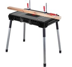 Portable Jobsite Workbench Router Table Miter Saw Stand Multipurpose Board Tools #Husky