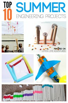 Top 10 DIY Summer Engineering Projects and activities. Go beyond crafts- this is a great idea to open a world of design for your kids.