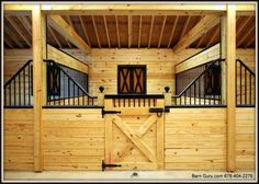 I think this idea of the angled bars for the center stalls in the barn re-design?  But make sure it is tall enough for the young and green horses to not climb out.