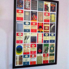 penguin books postcards framed