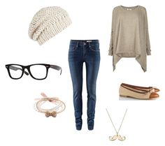 """""""Tenue n°3"""" by camaure ❤ liked on Polyvore featuring AllSaints, H&M, Anniel, Ray-Ban and ASOS"""