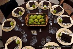 green/brown/gold, simple but nice centerpiece