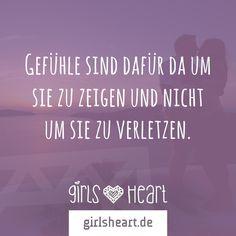 Mehr Sprüche auf: www.girlsheart.de #gefühle #herz #liebe #treue #treusein