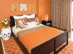 19 orange bedroom decoration ideas