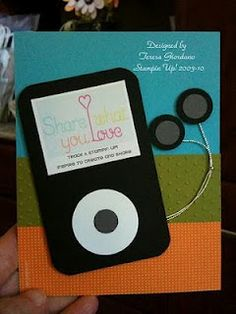 Stampin' Up!  Punch Art  Teresa Giordano  iPod