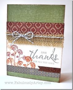 #CTMH Huntington Paper and Happy Autumn stamp set.Fabulously Artsy, Tresa Black.