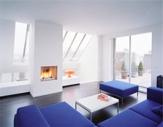 modern blue living room | Modern Apartment Interior Design Spacious Living Room Beautiful Blue ...
