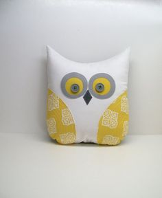 owl pillow - to make her wise