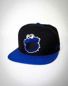 8ec635c1f4d I found  Cookie Monster Snapback Flatbill Hat  on Wish
