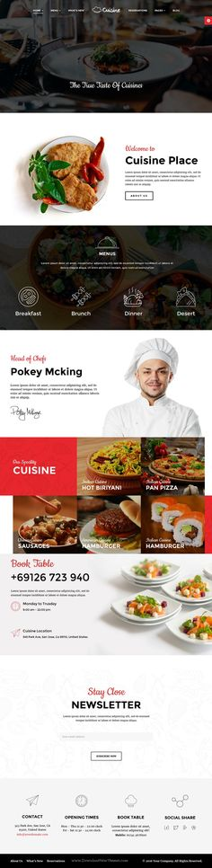 Cuisine is Responsive WordPress Theme for restaurant and #food, #hospitality #website. Download Now!