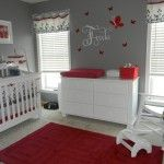 I think this nursery is just soooo cute! and can easily be transformed into a girls bedroom bc its not too little girly