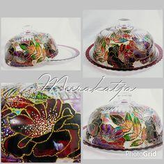 My artwork.. By meerakatja glass art painting. Indonesia 2016