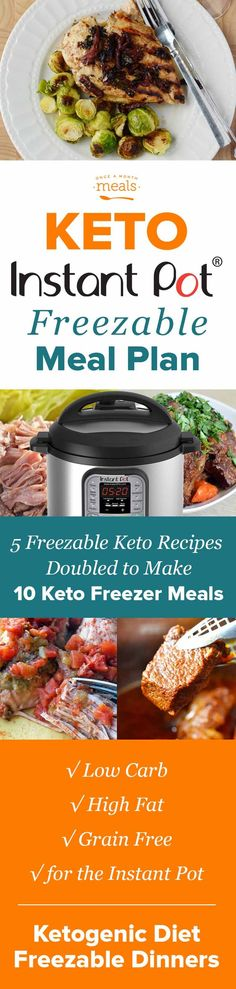 Check out these keto friendly freezer recipes that you can cook in your Instant Pot.  #InstantPot #Keto #pressureCooker #Recipes #LowCarb