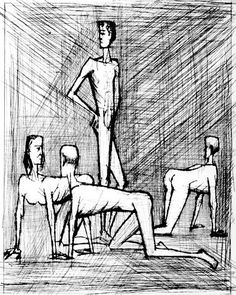 Bernard Buffet - Illustration de VOYAGES FANTASTIQUES - 1958 engraving - 41 x 32.5 cm